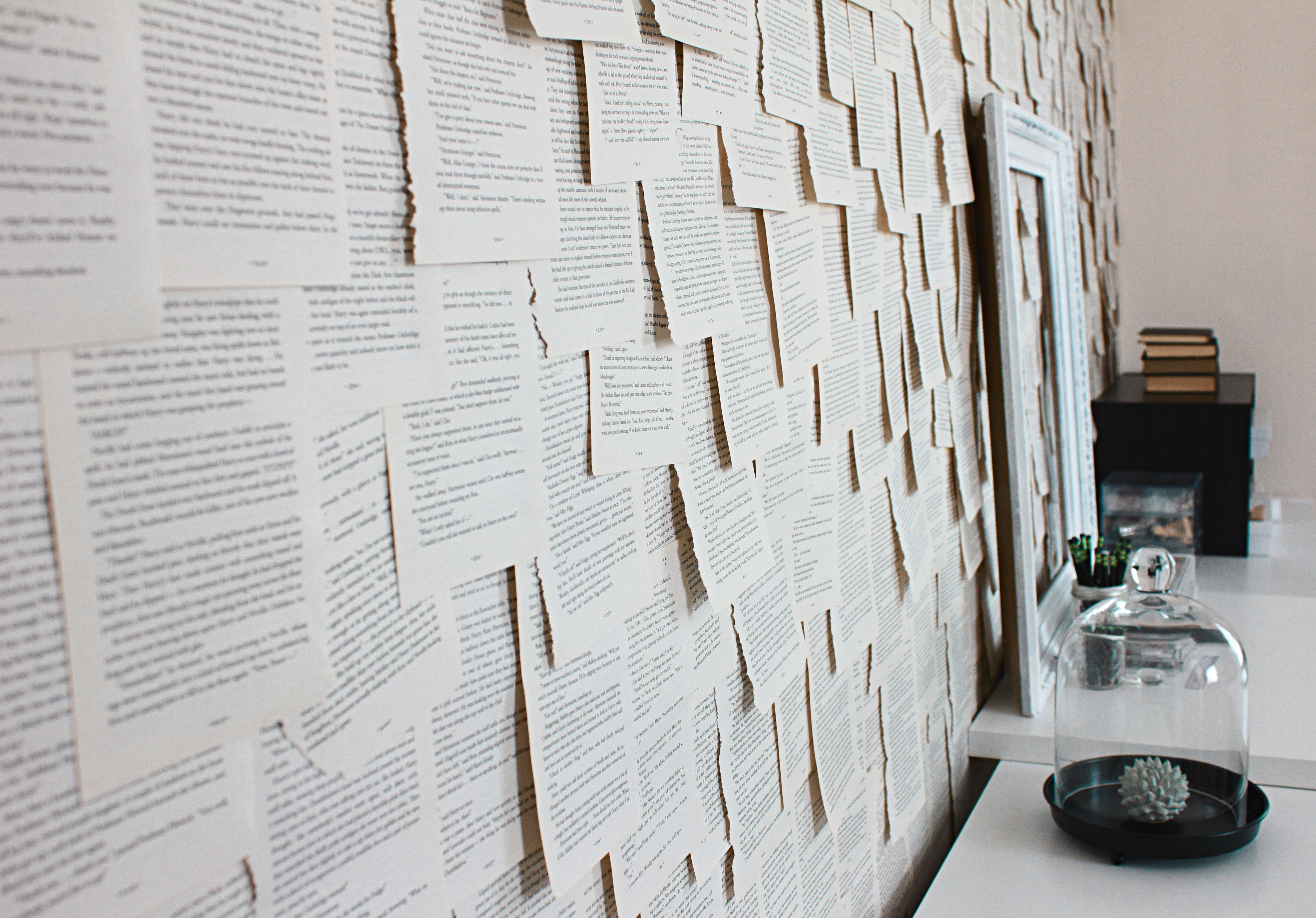 Paper Notes Stuck to a Wall